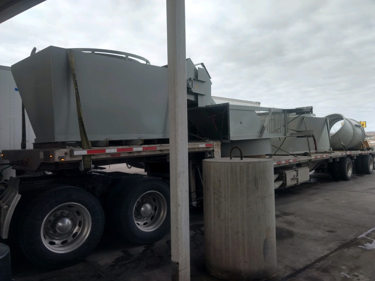 Shipping a service truck