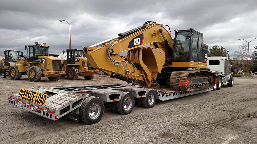Caterpillar Excavator Loaded for Travel