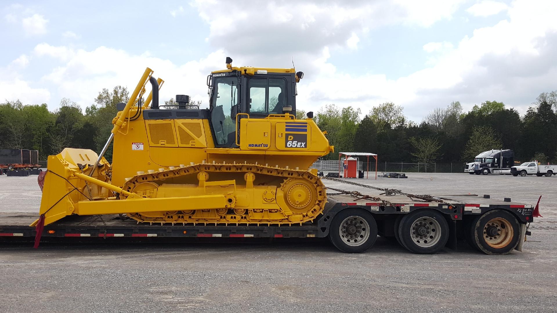 Loading a bulldozer