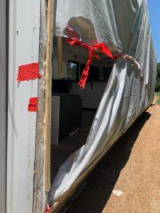 Reparing the tarp