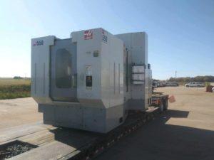 CNC machine in transport