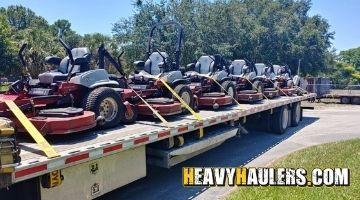 bulk lawn mower transport