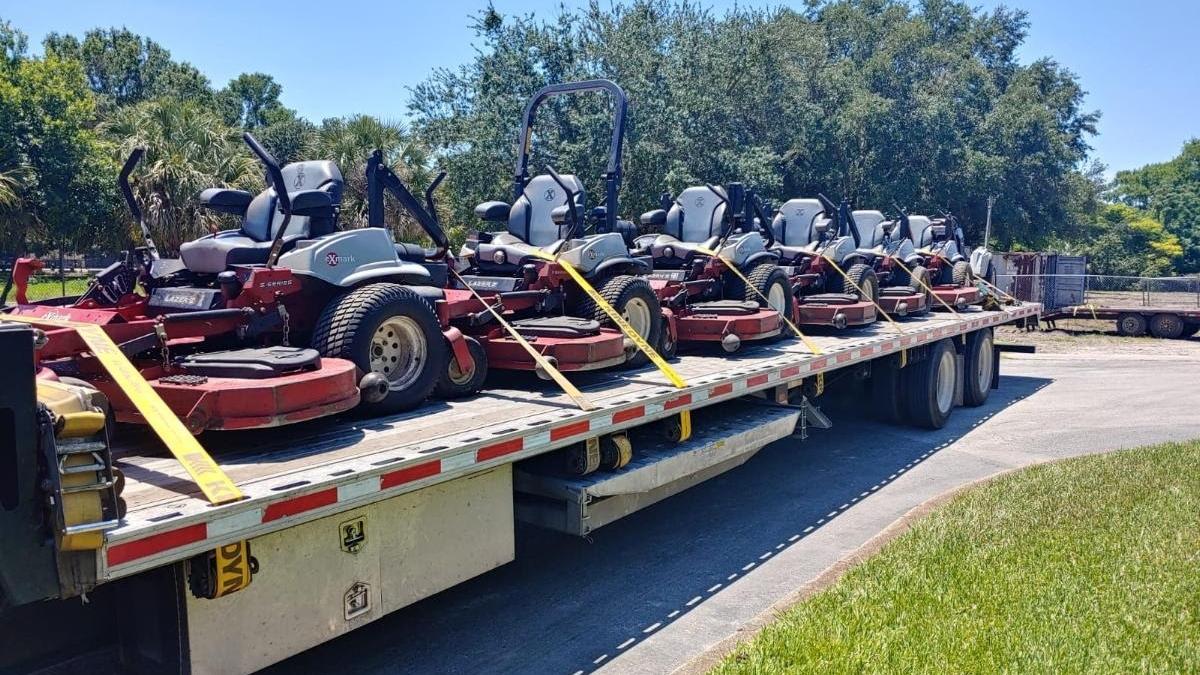 Lawn Mower transport