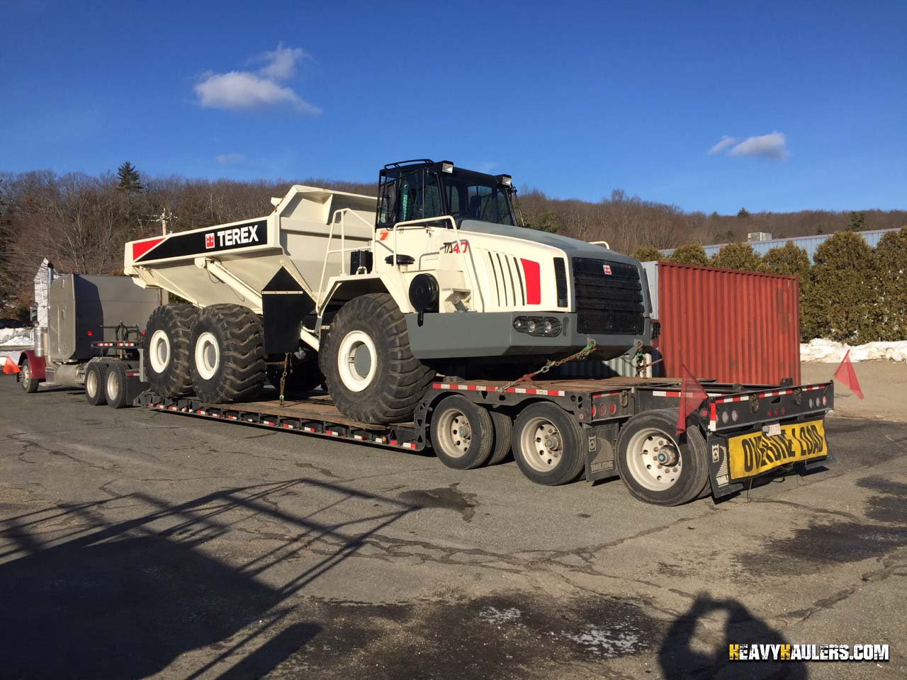 Articulated Dump Truck Transport Services | Heavy Haulers | (800) 908-6206