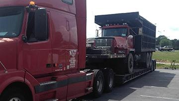 Transporting 1997 Mack RD8 Dump Truck