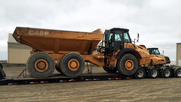 Case 330 Articulated Dump Truck In Transport