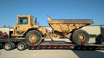Caterpillar D25 Articulated Dump Truck In Transport