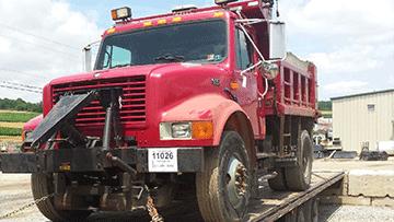 Volvo VHD 84 200 Dump Truck In Transport