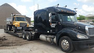 International Dump Truck In Transport