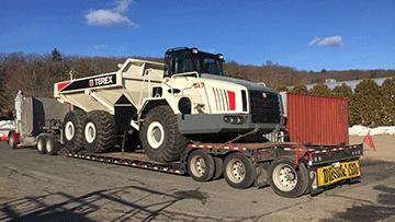 Terex 40 Off Highway Dump Truck In Transport