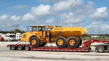 Volvo A30D Articulated Dump Truck In Transport