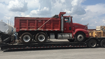 Volvo VHD Dump Truck In Transport
