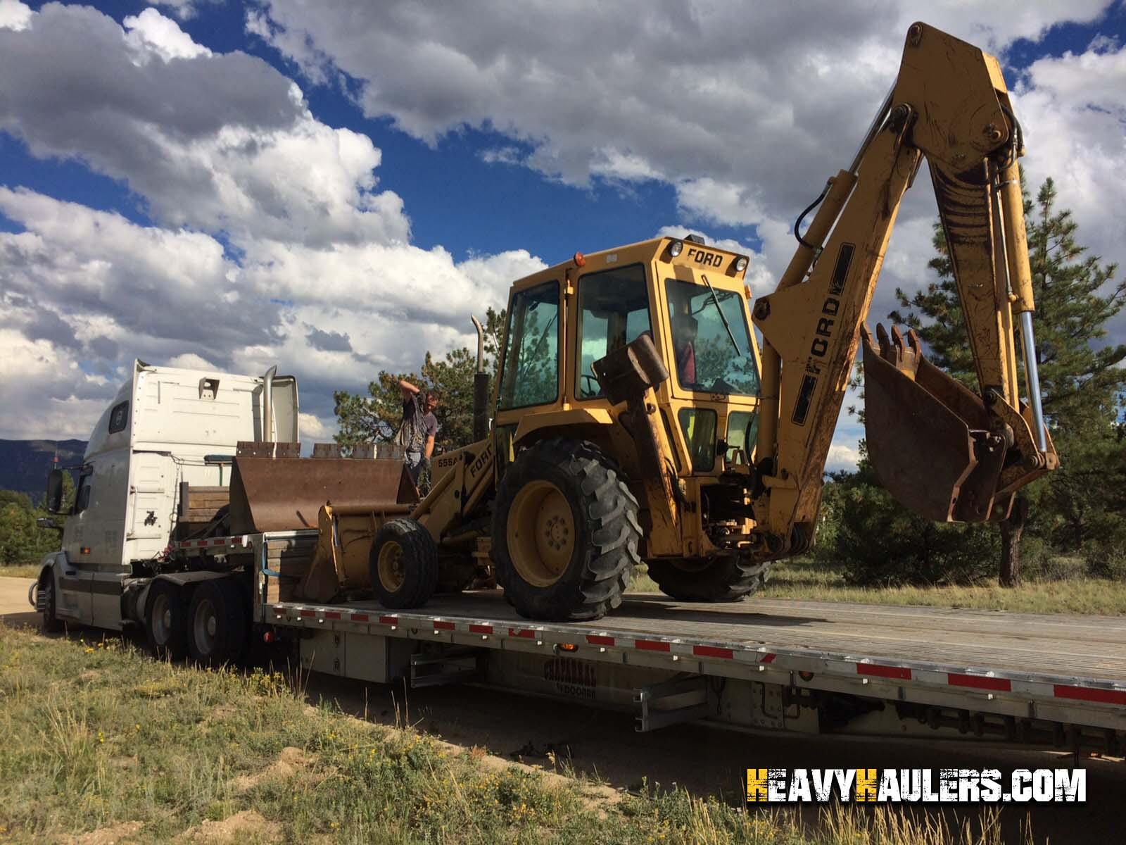 Shipping a Ford 555 Backhoe