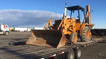 Case 580C Backhoe Loader In Transport