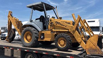 Transporting 1996 Case 580SL Loader