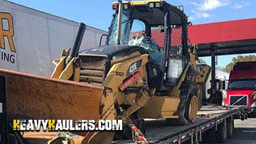 Caterpillar 420E Backhoe Loader In Transport