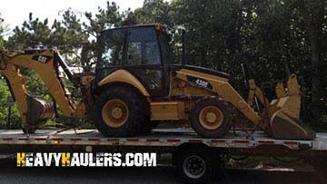 Caterpillar 430E Backhoe Loader In Transport