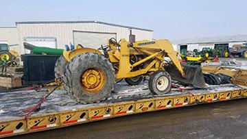 John Deere 410 Backhoe Loader In Transport