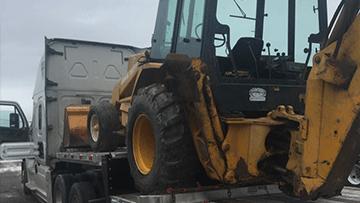 John Deere Backhoe Loader In Transport