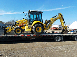 New Holland B95 Backhoe Shipping