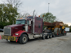 Shipping a Volvo Dump Truck