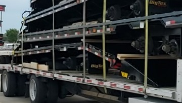 26,500 total lbs BigTex Trailers transported to California