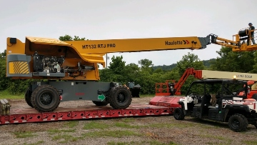 48,000lbs Haulatte HA132RTJ boom lift shipped to Ohio