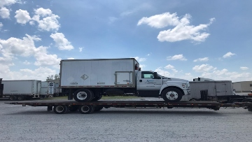 2018 Ford F650 Box Truck on a Flatbed