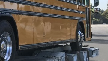 School Bus shipped intrastate with-in California