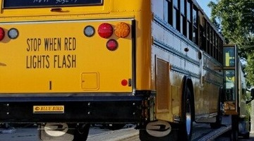 2019 BlueBird T3RE Electric School Bus hauled to Colton, CA