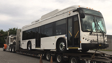 Hauling a BYD K9S Electric Transit Bus