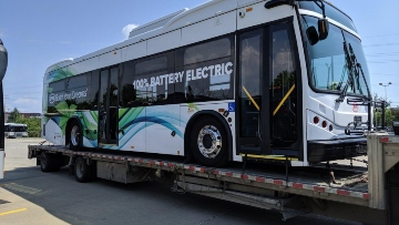 Towing an electric bus