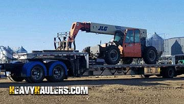Transporting 2006 JLG G9-43 Boom Lift