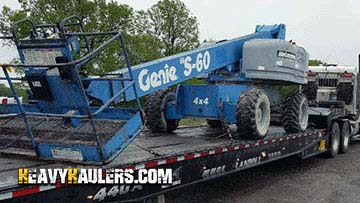 Genie S60 Telescopic Boom Lift In Transport