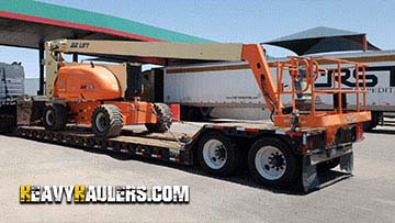 Shipping JLG 800A Articulated Boom Lift