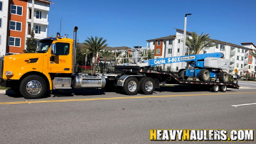 Genie S80 Boom Lift transported to Lake Mary, FL