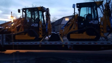 Backhoe transport in Rhode Island