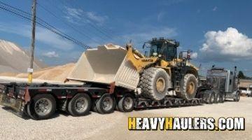 Shipping a Komatsu Wheel loader