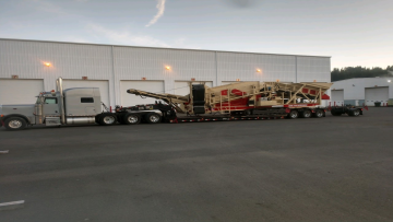 A screener being loaded in Maine