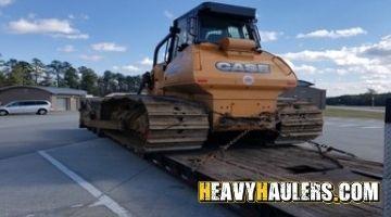 Shipping bulldozer in Hawaii