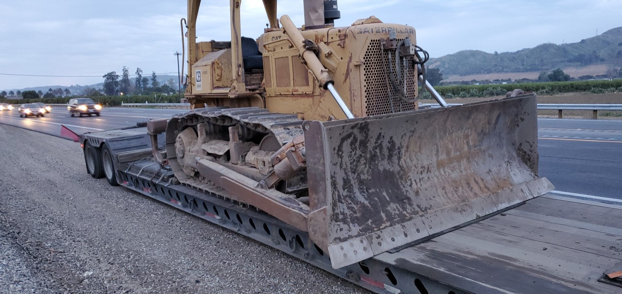 California CAT equipment transport
