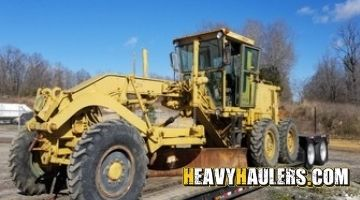 Transporting a motor grader to Maine