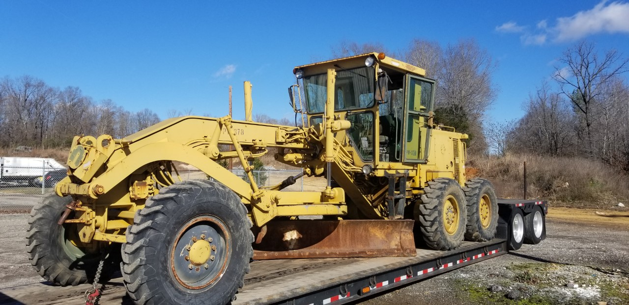 Motor grader shipped in Maine