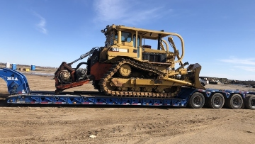 Dozer transport in Washington
