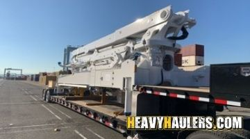 Shipping a concrete boom from Alabama