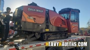 Shipping a Ditch Witch directional drill