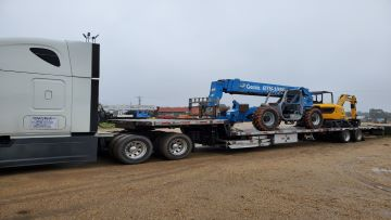 Transporting a forklift in Massachusetts