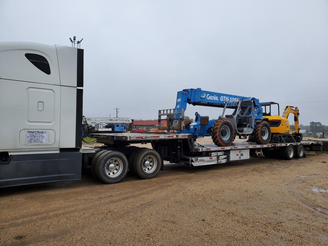 Forklift transport in Massachusetts