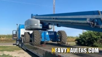 Transporting a genie boom lift