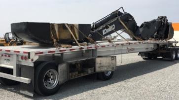 Kobelco equipment transport